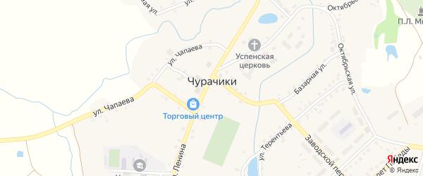 Лесная улица на карте села Чурачики с номерами домов