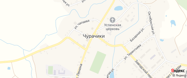 Улица Чапаева на карте села Чурачики с номерами домов