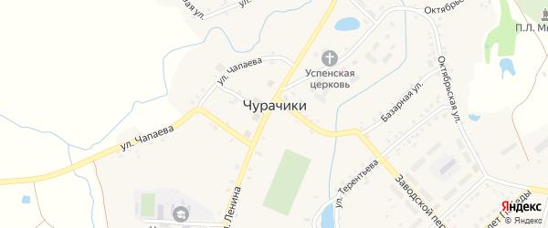 Школьный переулок на карте села Чурачики с номерами домов