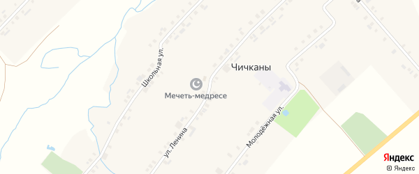 Улица Ленина на карте деревни Чичкан с номерами домов