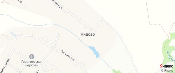 Поперечная улица на карте деревни Яндово с номерами домов