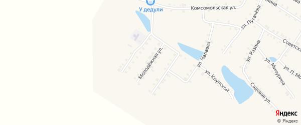 Молодежная улица на карте деревни Атнашево с номерами домов