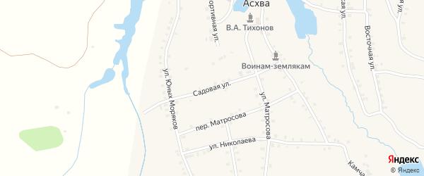 Полевая улица на карте деревни Асхвы с номерами домов