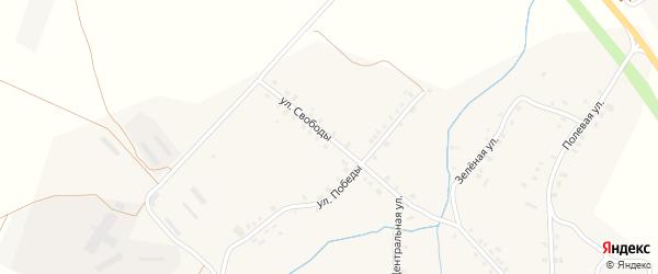 Улица Свободы на карте деревни Асхвы с номерами домов