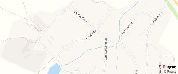 Улица Победы на карте деревни Асхвы с номерами домов