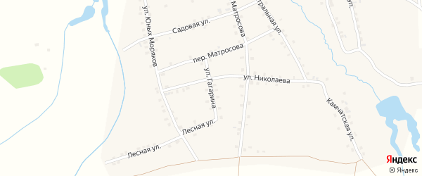 Улица Гагарина на карте деревни Асхвы с номерами домов