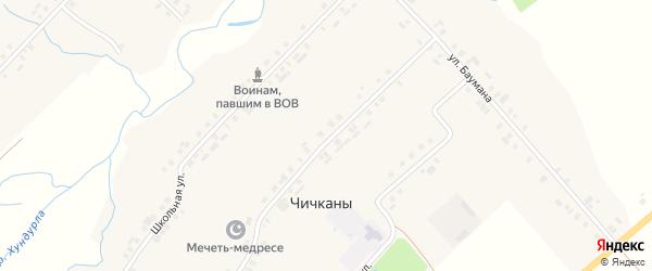 Хозяйственный проезд на карте деревни Чичкан с номерами домов
