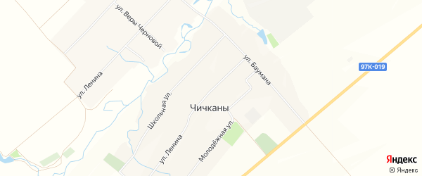 Карта деревни Чичкан в Чувашии с улицами и номерами домов