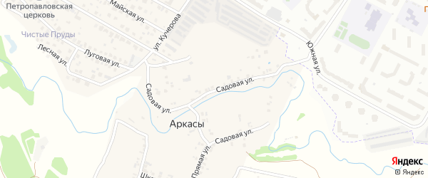 Садовая улица на карте деревни Аркасы с номерами домов