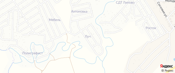 Сдт Островок рая территория на карте Чебоксар с номерами домов