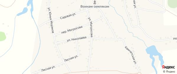 Улица Николаева на карте деревни Асхвы с номерами домов