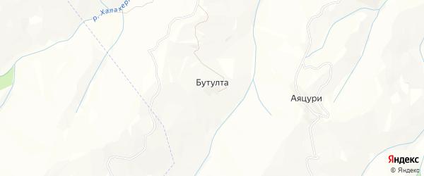 Карта села Бутулты в Дагестане с улицами и номерами домов