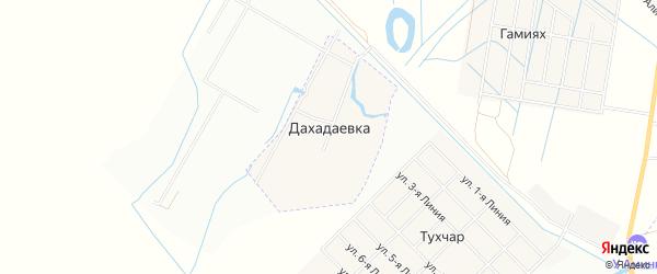 Карта хутора Дахадаевки в Дагестане с улицами и номерами домов