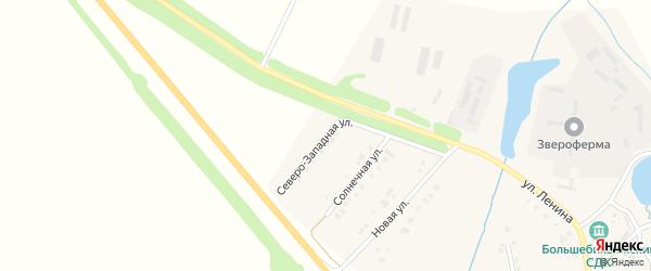 Северо-Западная улица на карте деревни Большие Бикшихи с номерами домов