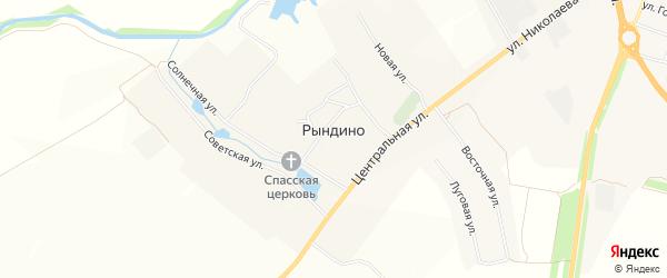 Карта села Рындино в Чувашии с улицами и номерами домов