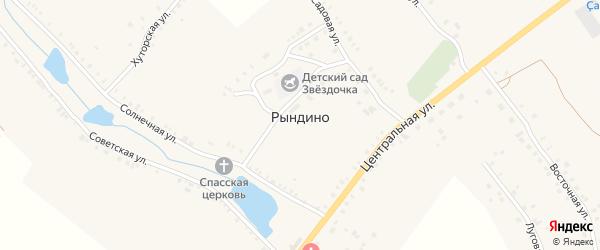 Родниковая улица на карте села Рындино с номерами домов