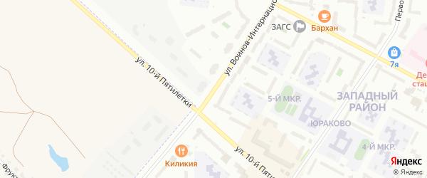 Улица Воинов интернационалистов на карте Новочебоксарска с номерами домов