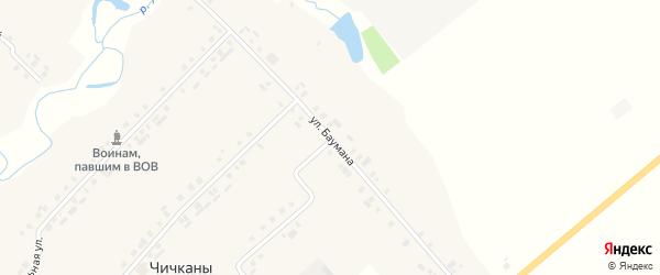 Улица Баумана на карте деревни Чичкан с номерами домов