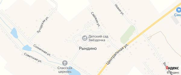 Улица Павлова на карте села Рындино с номерами домов