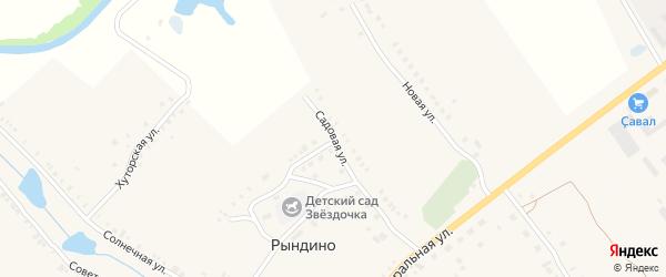 Садовая улица на карте села Рындино с номерами домов