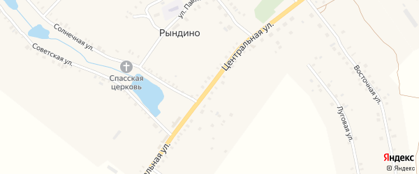 Центральная улица на карте села Рындино с номерами домов