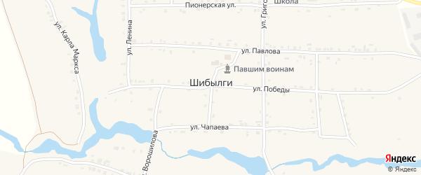Улица Чапаева на карте села Шибылги с номерами домов