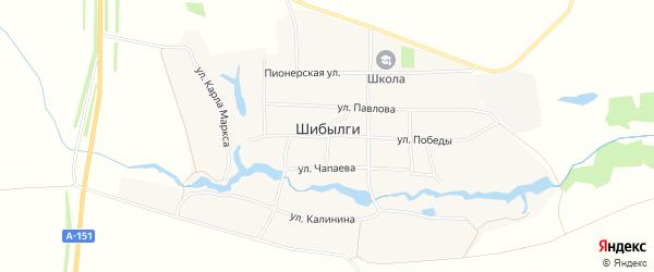 Карта села Шибылги в Чувашии с улицами и номерами домов