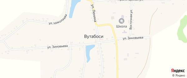 Улица Зиновьева на карте села Вутабосей с номерами домов