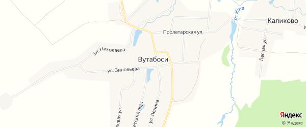 Садоводческое некомм.тов-во Строитель-95 на карте села Вутабосей с номерами домов