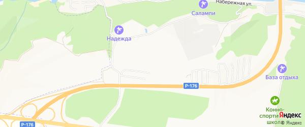СНТ Прямоугольник на карте Новочебоксарска с номерами домов