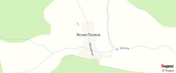Карта поселка Ясной Поляны в Чувашии с улицами и номерами домов
