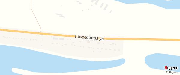 Шоссейная улица на карте поселка Линейной с номерами домов