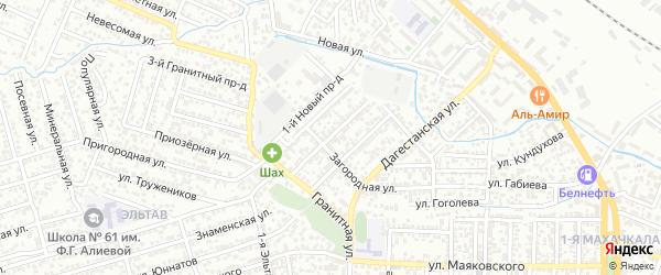 Цимлянская улица на карте Махачкалы с номерами домов
