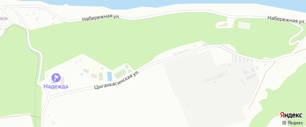 Цыганкасинская улица на карте Новочебоксарска с номерами домов