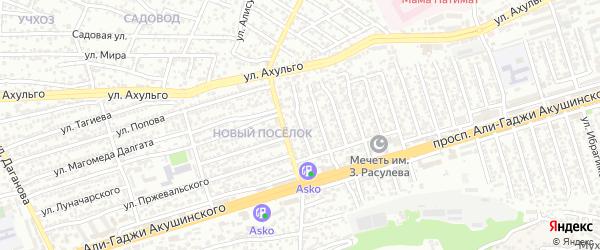 А.Акушинского пр-кт 18-я линия на карте Махачкалы с номерами домов