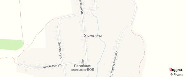 Улица Коптарка на карте села Хыркас с номерами домов