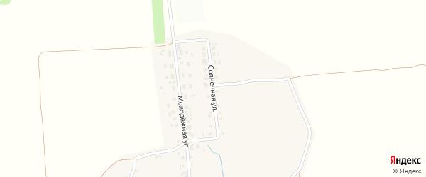 Солнечная улица на карте деревни Хыркас с номерами домов