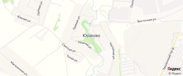 Карта деревни Юраково в Чувашии с улицами и номерами домов