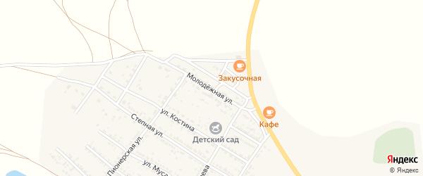 Молодежная улица на карте Селитренного села с номерами домов