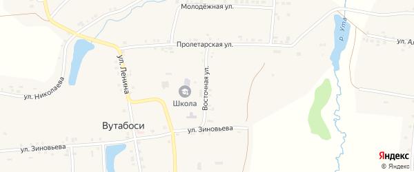 Восточная улица на карте села Вутабосей с номерами домов