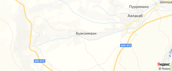Карта села Буанзимахи в Дагестане с улицами и номерами домов