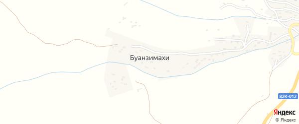Улица Максудова Магомеда Максудовича на карте села Буанзимахи с номерами домов