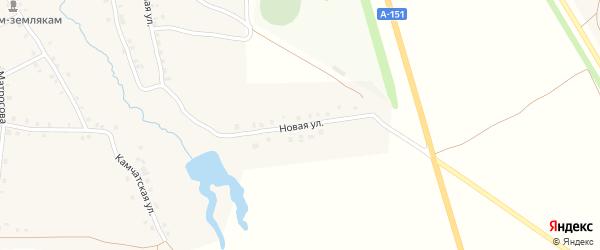 Новая улица на карте деревни Асхвы с номерами домов