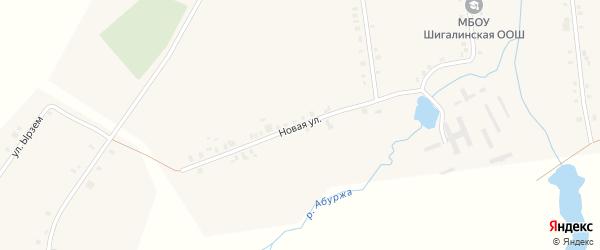 Новая улица на карте села Норваша-Шигали с номерами домов