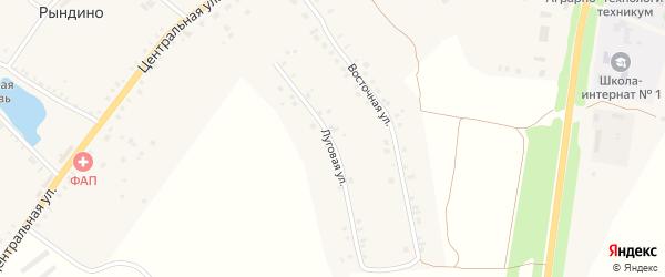 Луговая улица на карте села Рындино с номерами домов