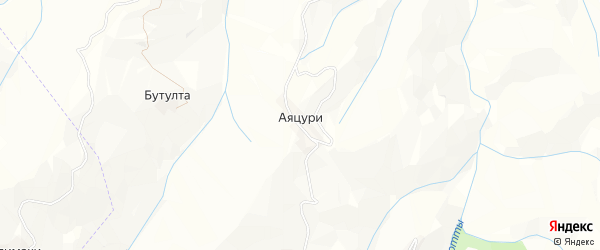Карта села Аяцури в Дагестане с улицами и номерами домов