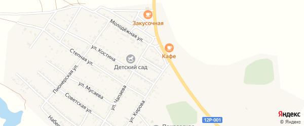 Улица Е.Лосевой на карте Селитренного села с номерами домов