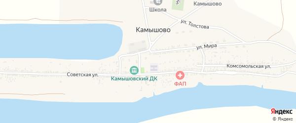Улица Мира на карте села Камышово с номерами домов