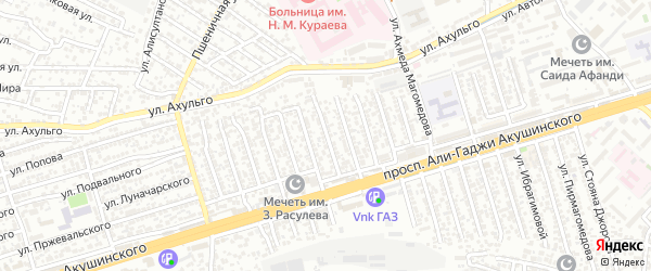 А.Акушинского пр-кт 12-я линия на карте Махачкалы с номерами домов