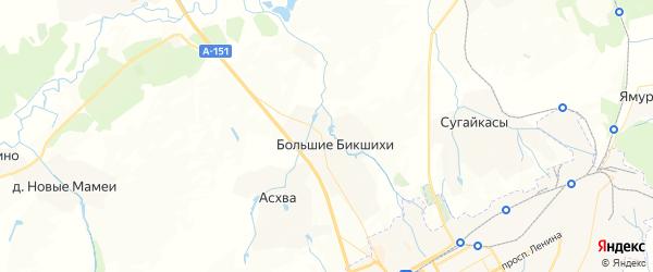 Карта Асхвинского сельского поселения республики Чувашия с районами, улицами и номерами домов